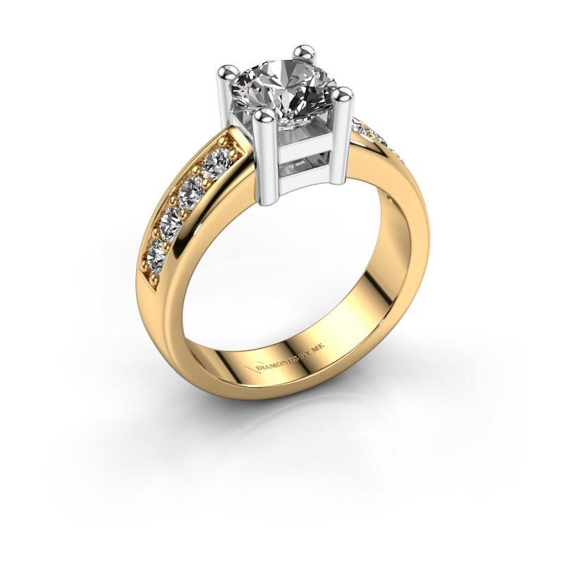 Engagement ring Eline 2 585 gold diamond 1.44 crt