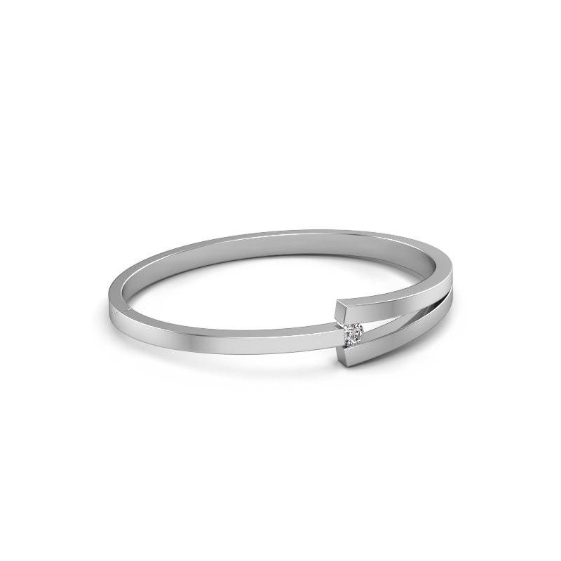 Slavenarmband Sofia 950 platina diamant 0.30 crt