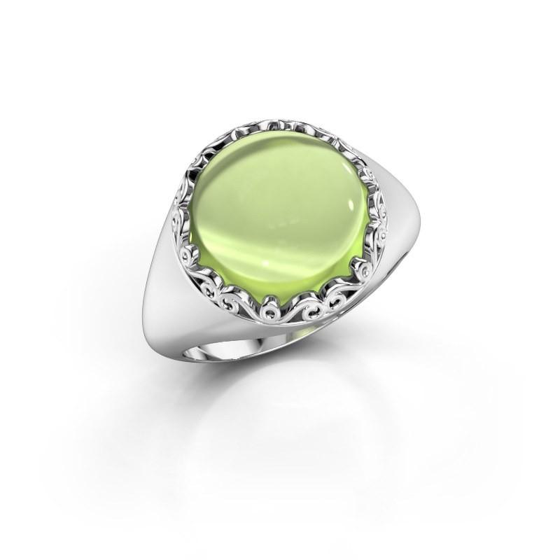 Ring Birgit 950 platina peridoot 12 mm