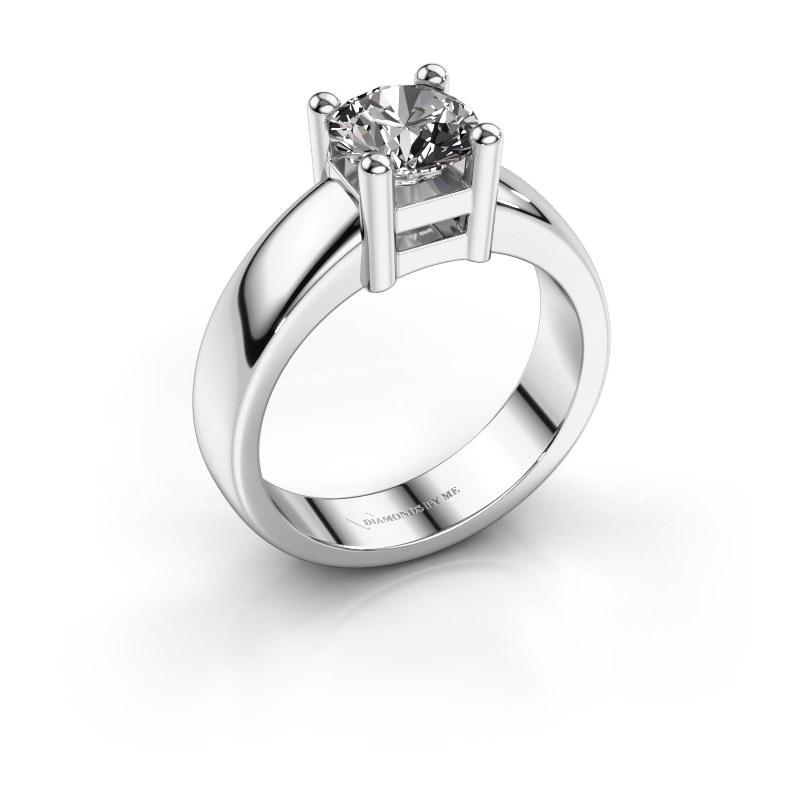 Promise ring Eline 1 585 witgoud diamant 1.00 crt