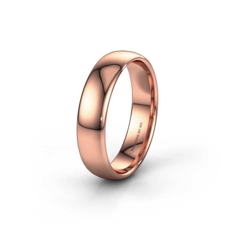 Trouwring WH2102M34A 375 rosé goud ±5x1.7 mm