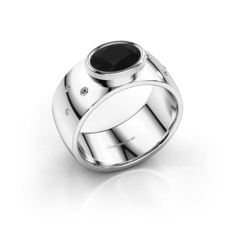 Ring Wilma 2 585 witgoud zwarte diamant 1.380 crt