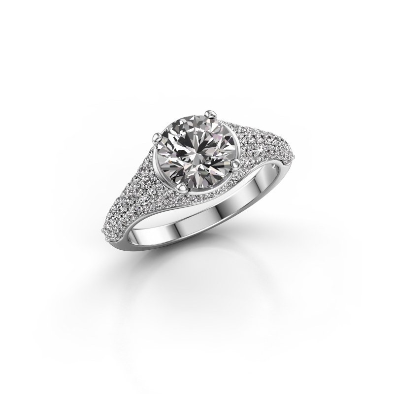 Ring Lovella 585 witgoud lab-grown diamant 1.929 crt