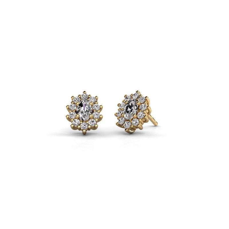 Ohrringe Leesa 375 Gold Lab-grown Diamant 1.60 crt