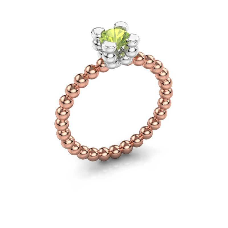Ring Aurore 585 rosé goud peridoot 5 mm