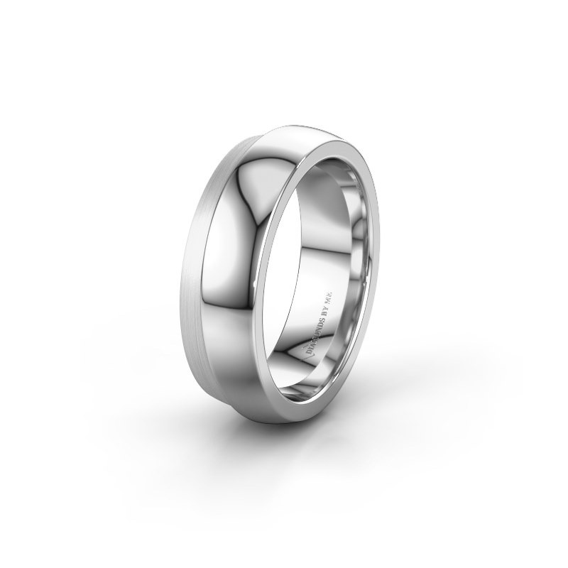 Wedding ring WH6004L26C 925 silver ±6x2.2 mm