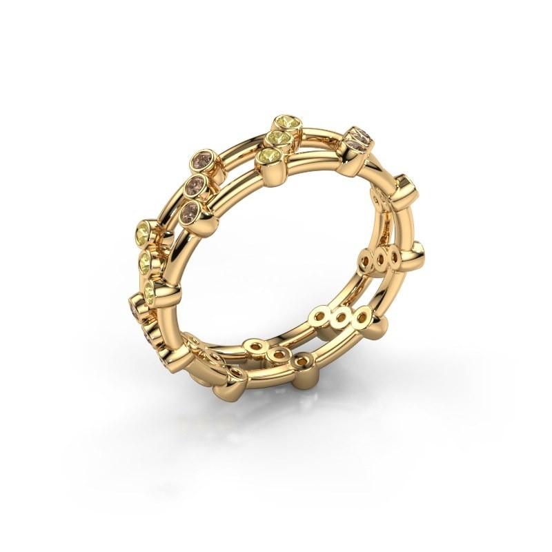 Ring Floortje 375 Gold Braun Diamant 0.18 crt