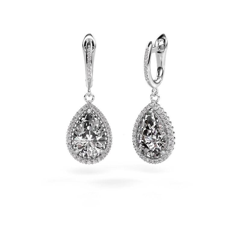 Drop earrings Tilly per 4 950 platinum diamond 3.00 crt
