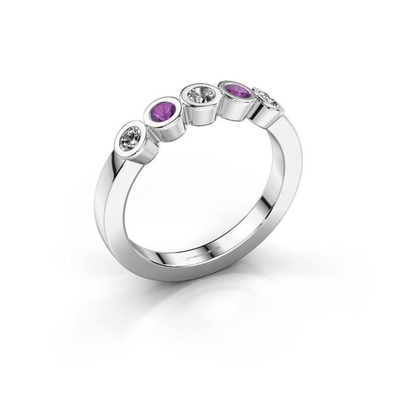 Ring Nova 585 white gold diamond 0.30 crt