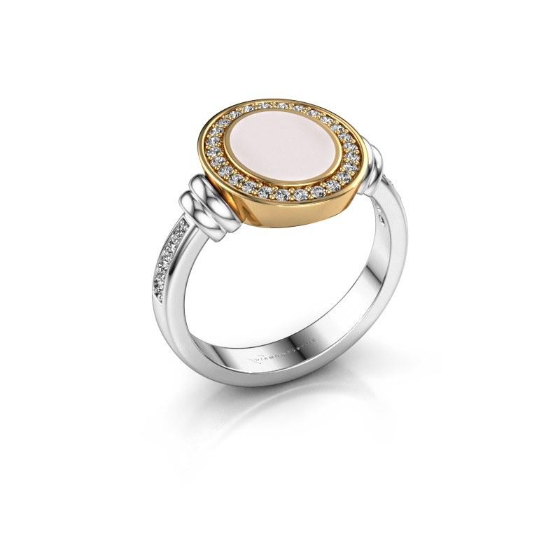 Signet ring Bailey 585 white gold red sardonyx 10x8 mm
