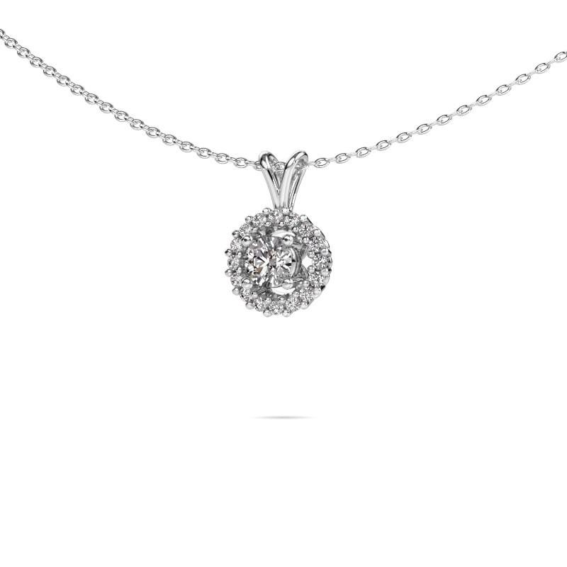 Pendant Tennille 585 white gold lab-grown diamond 0.37 crt