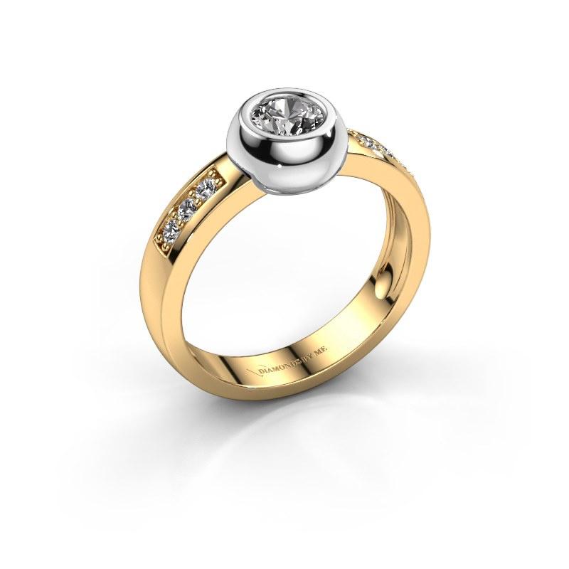 Ring Charlotte Round 585 goud zirkonia 4.7 mm