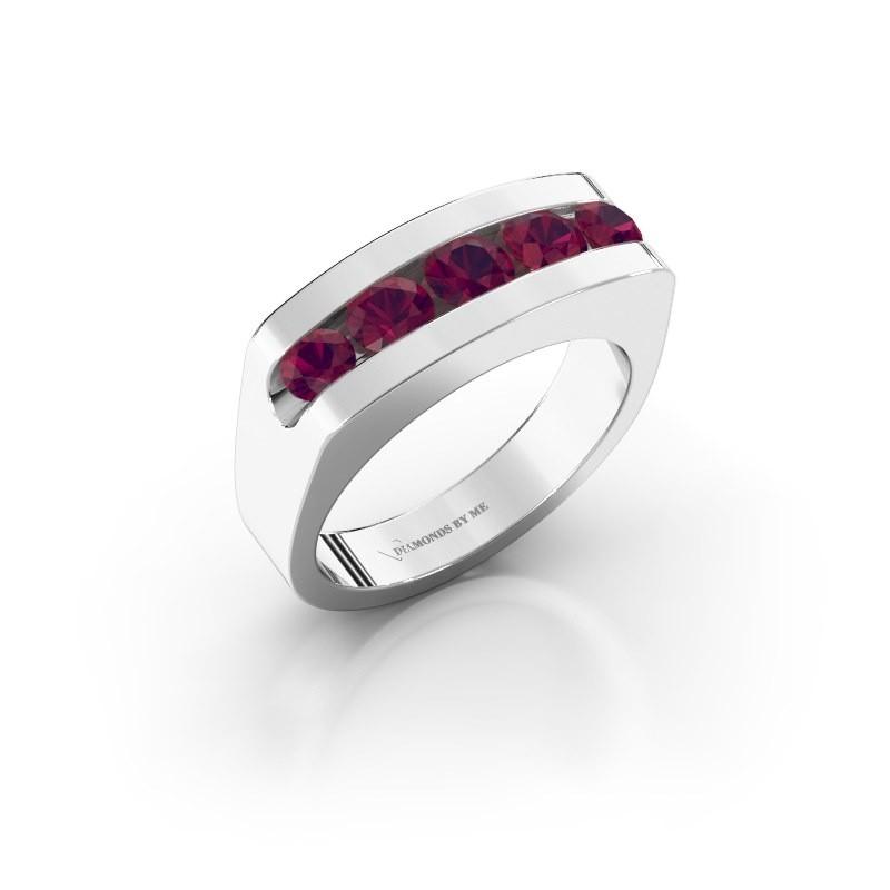 Men's ring Richard 925 silver rhodolite 4 mm