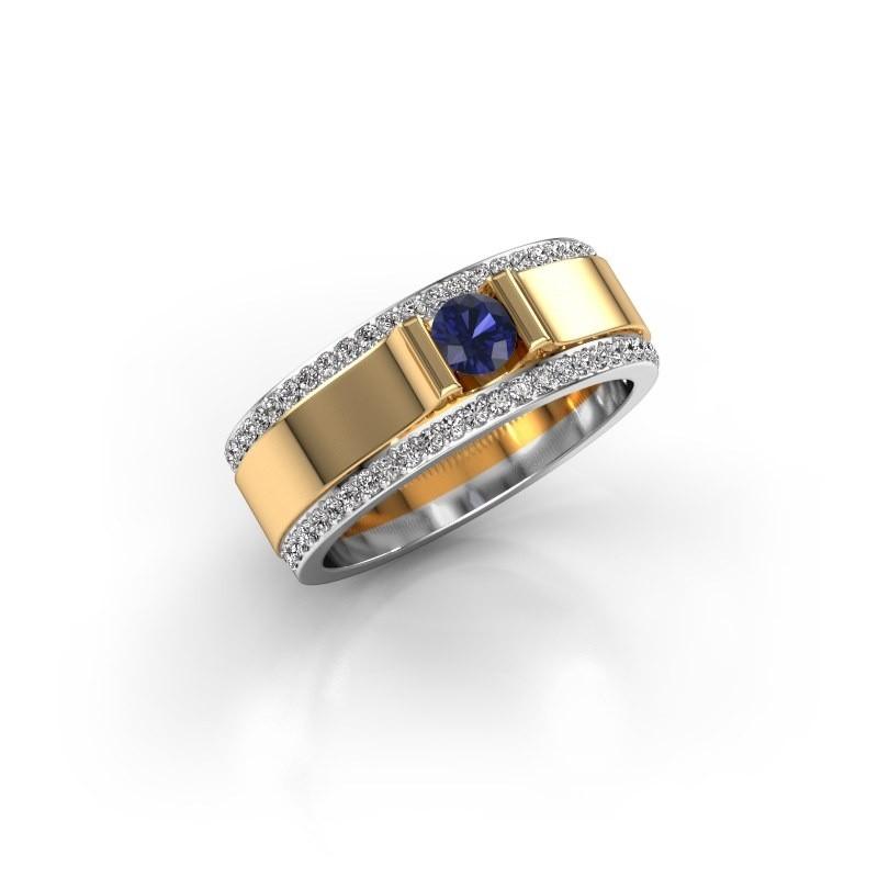 Men's ring Danillo 585 gold sapphire 4.2 mm
