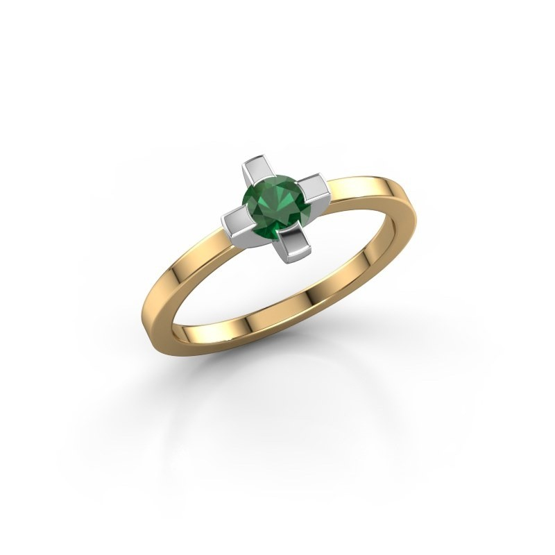 Ring Therese 585 goud smaragd 4.2 mm