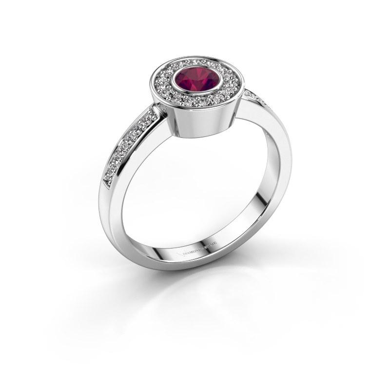 Ring Adriana 2 925 zilver rhodoliet 4 mm
