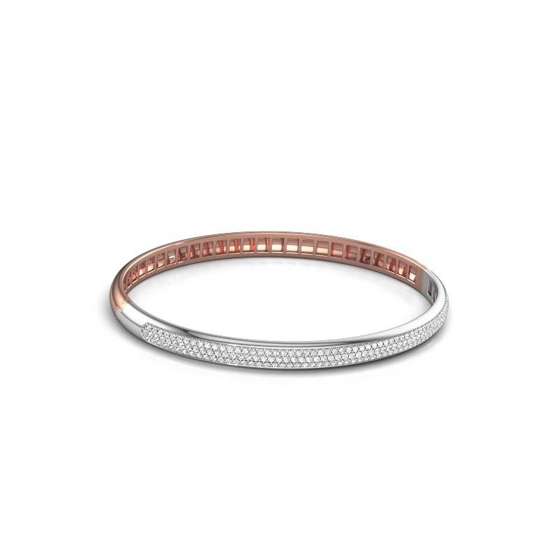 Armband Emely 5mm 585 rosé goud zirkonia 1.1 mm
