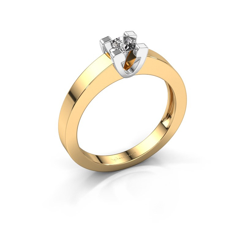 Promise ring Anne 1 585 goud diamant 0.15 crt