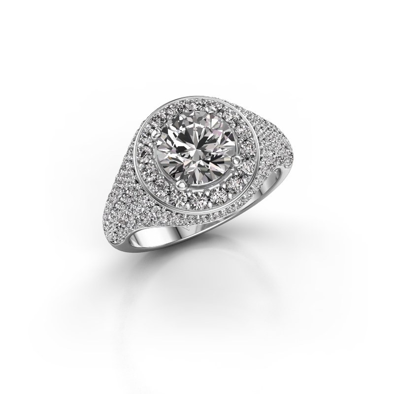 Ring Dayle 585 witgoud lab-grown diamant 2.463 crt