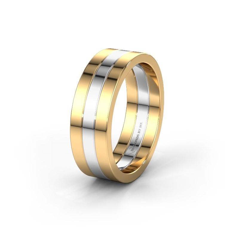 Wedding ring WH2120M 585 gold ±7x1.7 mm