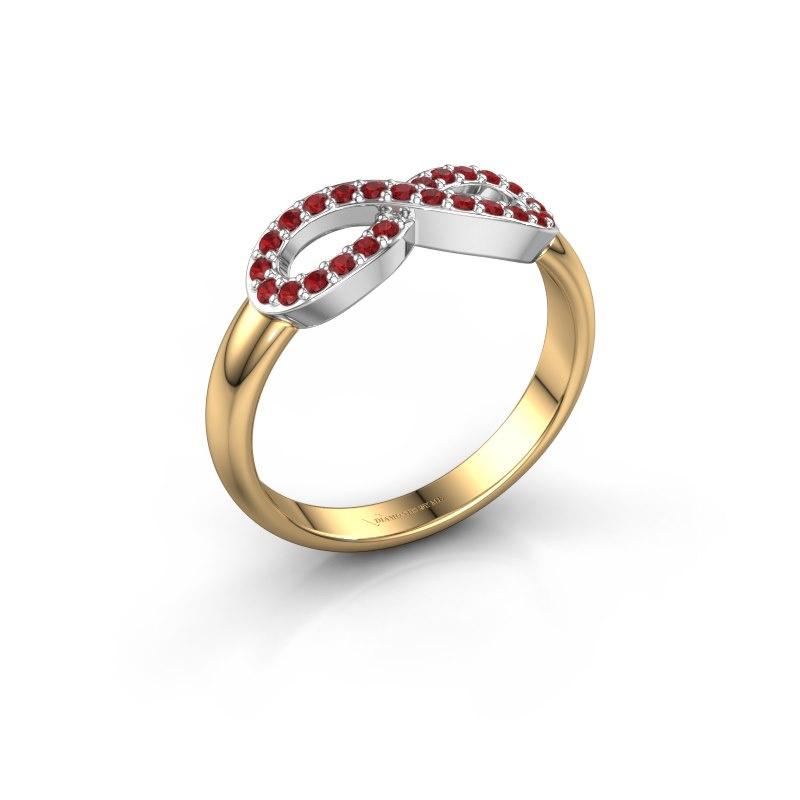 Ring Infinity 2 585 goud robijn 1.2 mm