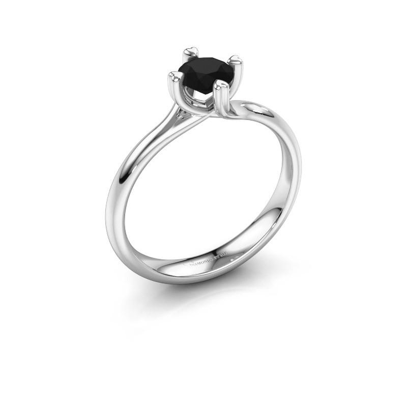 Verlobungsring Livia 925 Silber Schwarz Diamant 0.60 crt