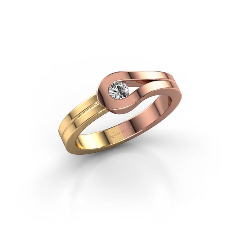 Ring Kiki 585 Roségold Lab-grown Diamant 0.10 crt
