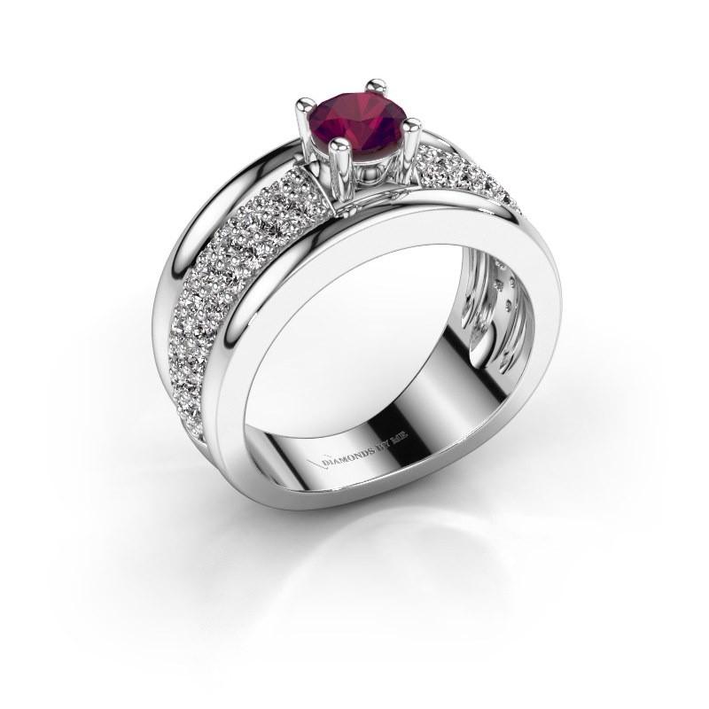 Ring Alicia 925 Silber Rhodolit 5 mm
