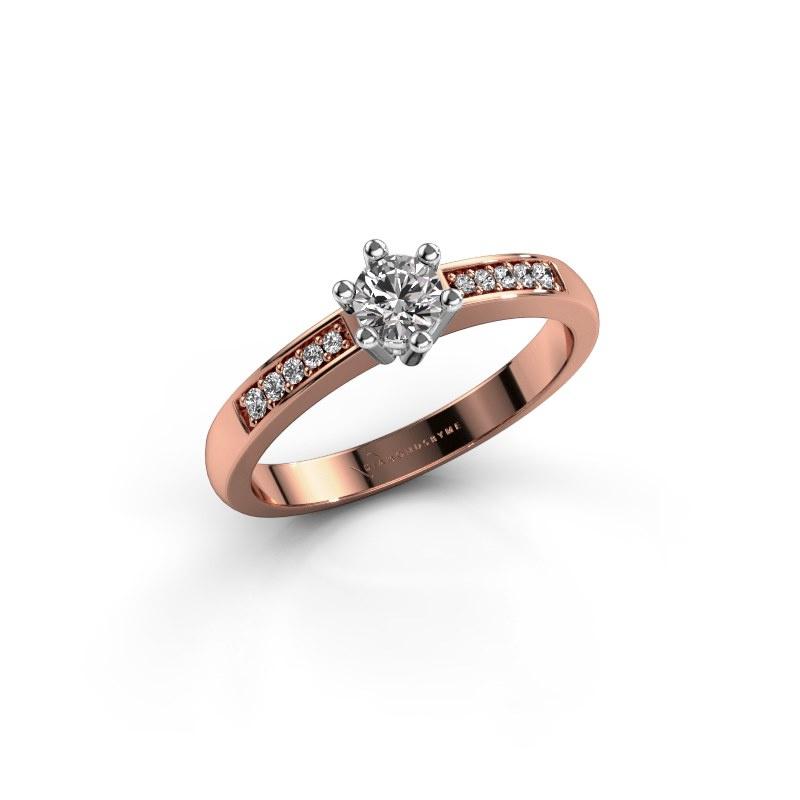 Verlovingsring Luna 2 585 rosé goud diamant 0.30 crt
