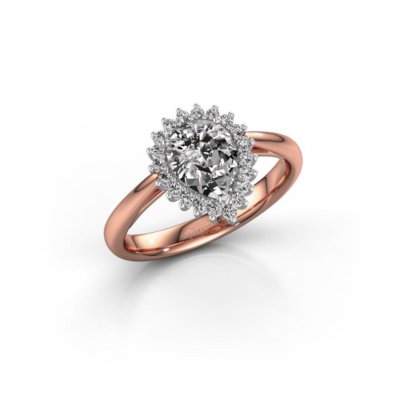 Verlovingsring Chere 1 585 rosé goud lab-grown diamant 0.95 crt