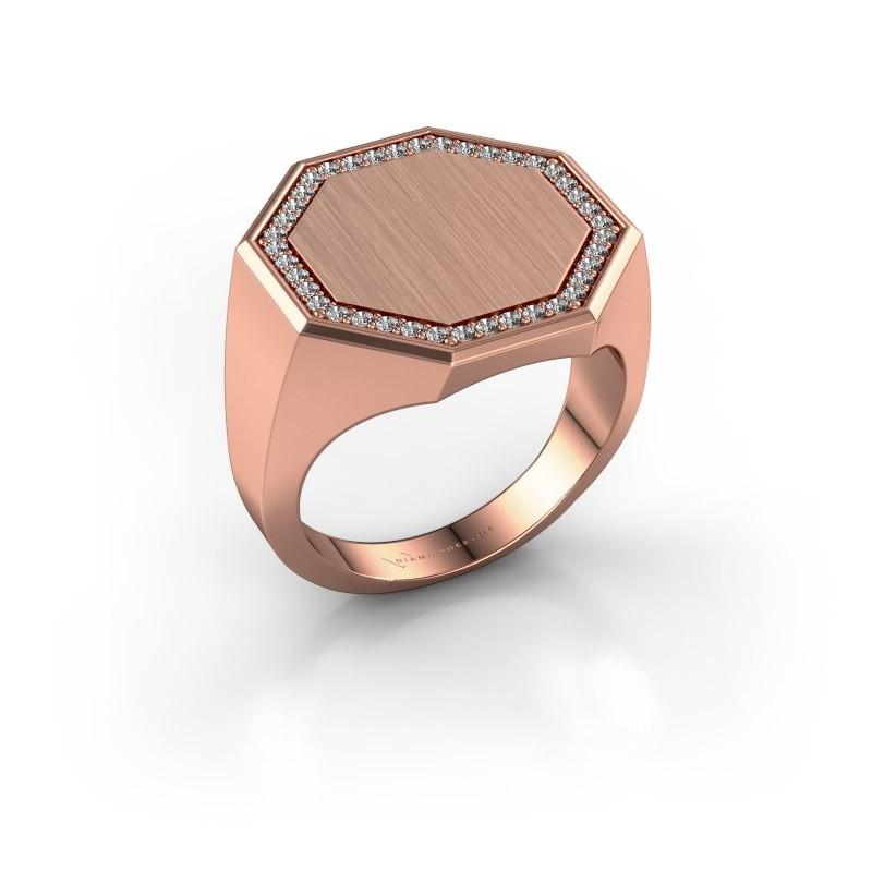 Men's ring Floris Octa 4 375 rose gold lab grown diamond 0.30 crt