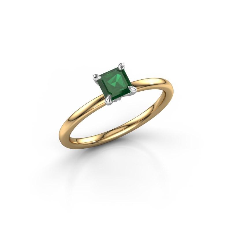 Verlobungsring Crystal ASS 1 585 Gold Smaragd 5 mm