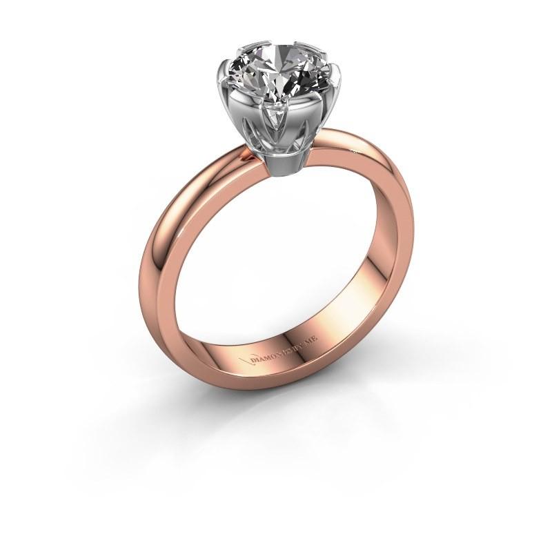 Verlovingsring Julia 585 rosé goud diamant 1.00 crt