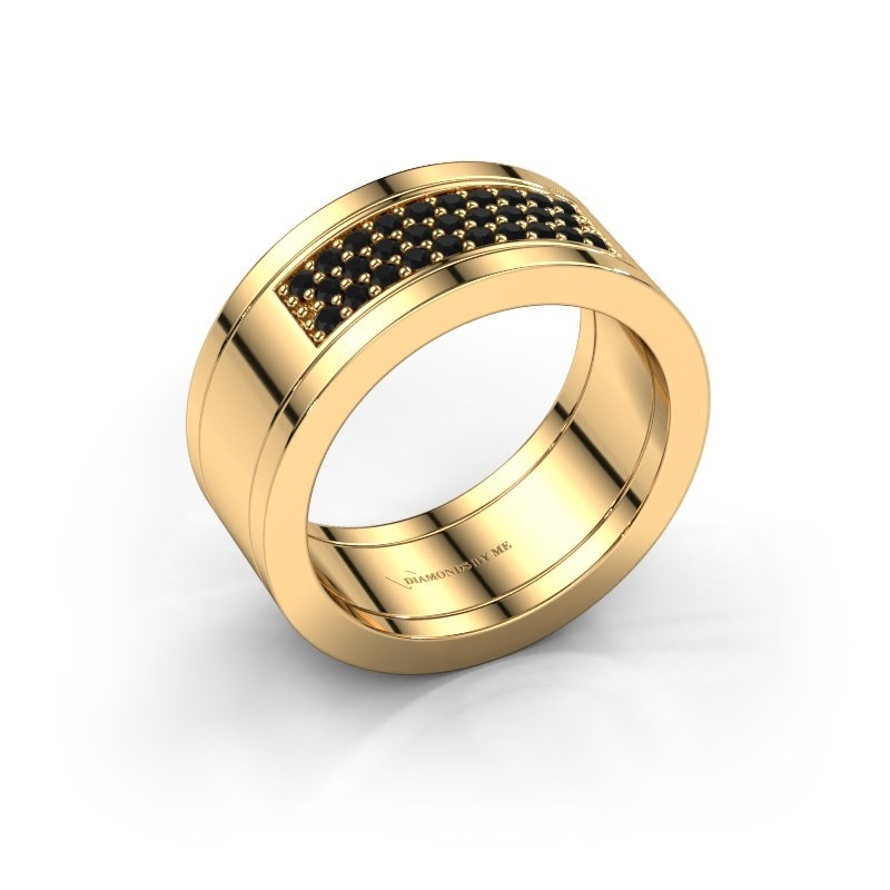 Ring Marita 3 585 gold black diamond 0.348 crt