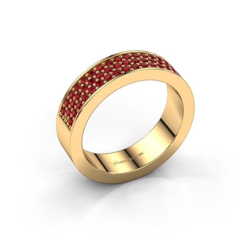 Ring Lindsey 4 375 gold ruby 1.3 mm