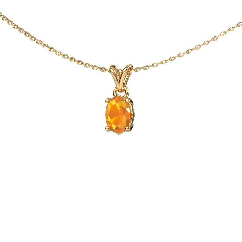 Ketting Lucy 1 585 goud citrien 7x5 mm