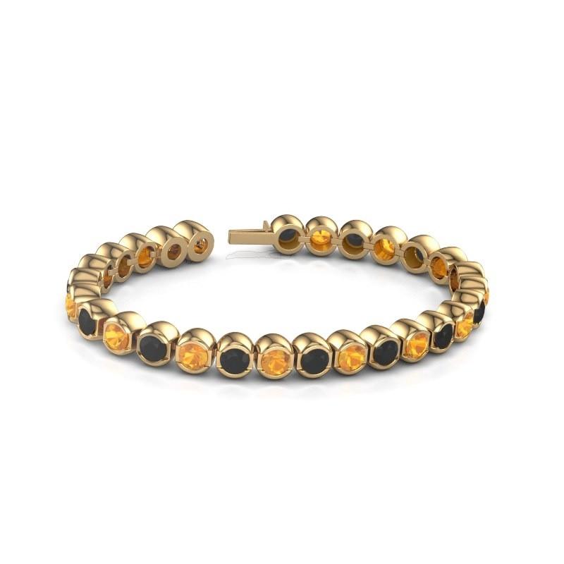 Tennisarmband Delma 375 goud citrien 5 mm