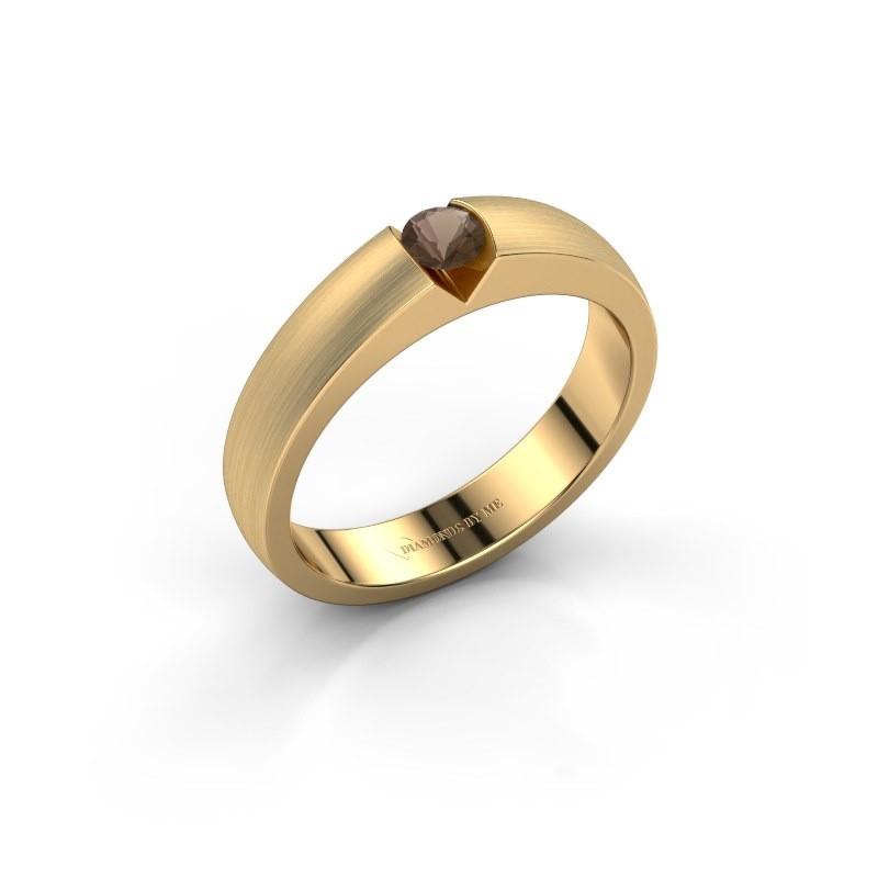 Verlovingsring Theresia 375 goud rookkwarts 3.4 mm