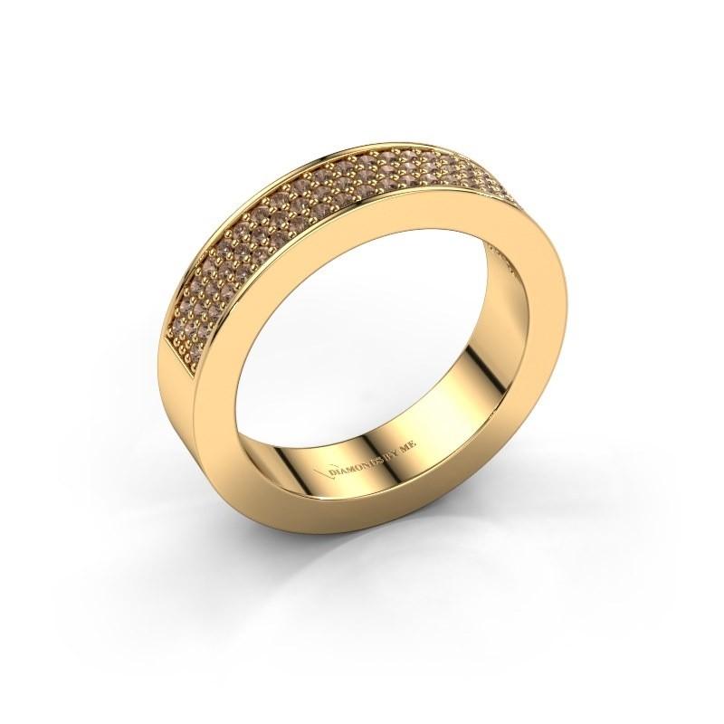 Ring Lindsey 2 375 goud bruine diamant 0.436 crt