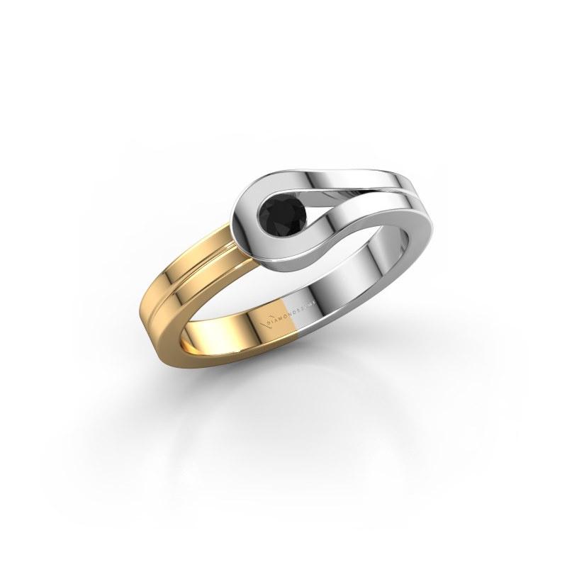 Ring Kiki 585 Weißgold Schwarz Diamant 0.12 crt