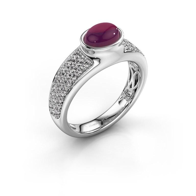 Ring Tatyana 950 platina rhodoliet 7x5 mm