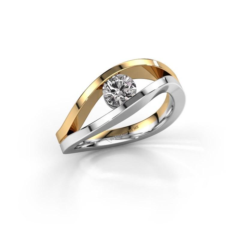 Aanzoeksring Sigrid 1 585 witgoud diamant 0.50 crt