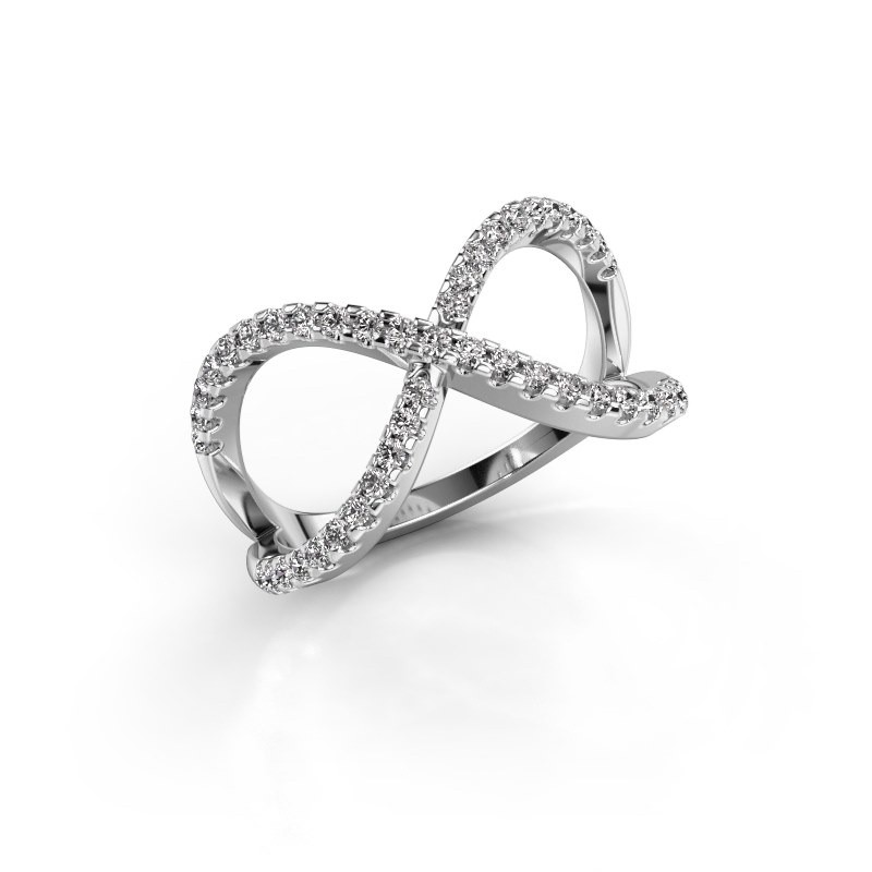Ring Alycia 2 950 platina zirkonia 1.3 mm