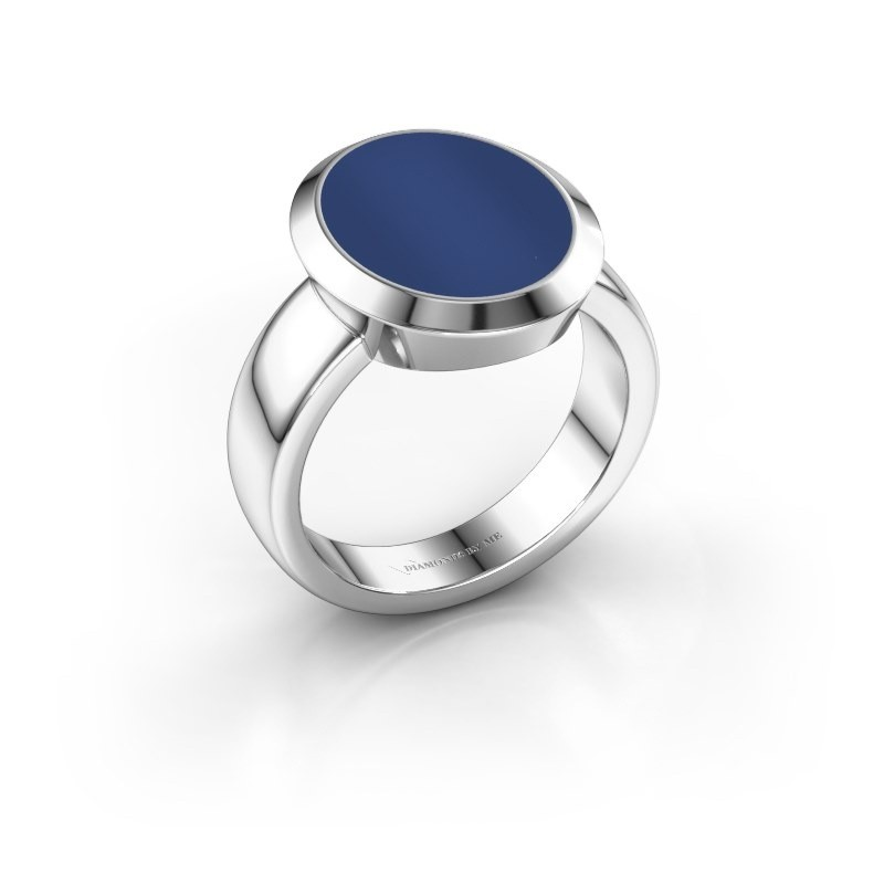Zegelring Oscar 4 925 zilver lapis lazuli 15x12 mm