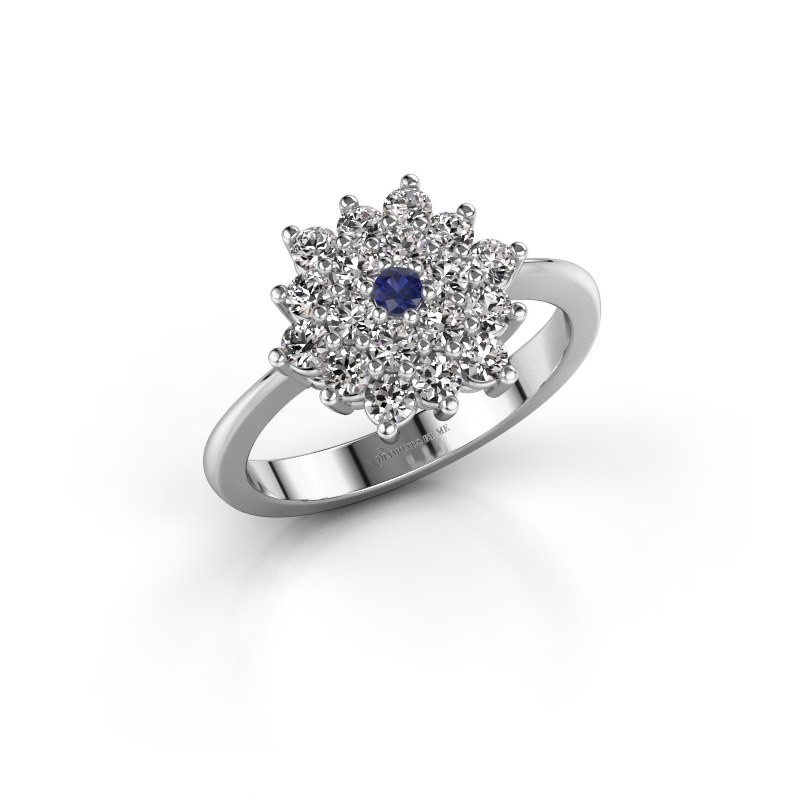 Engagement ring Vickey 2 585 white gold sapphire 2 mm