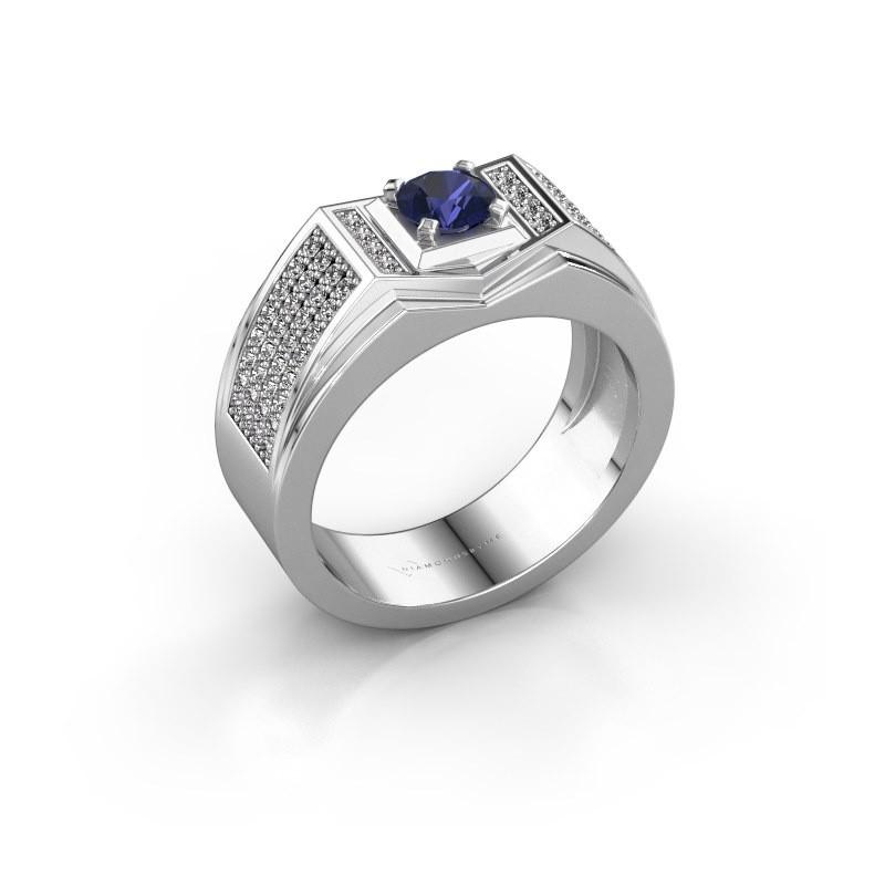 Men's ring Marcel 375 white gold sapphire 5 mm