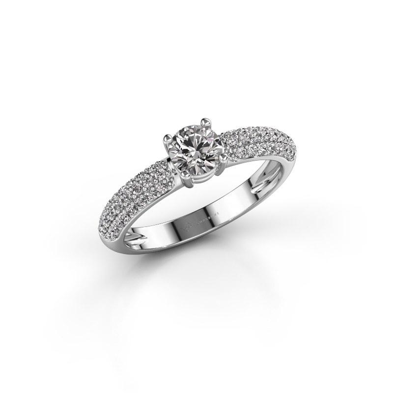 Verlobungsring Marjan 585 Weißgold Diamant 0.769 crt
