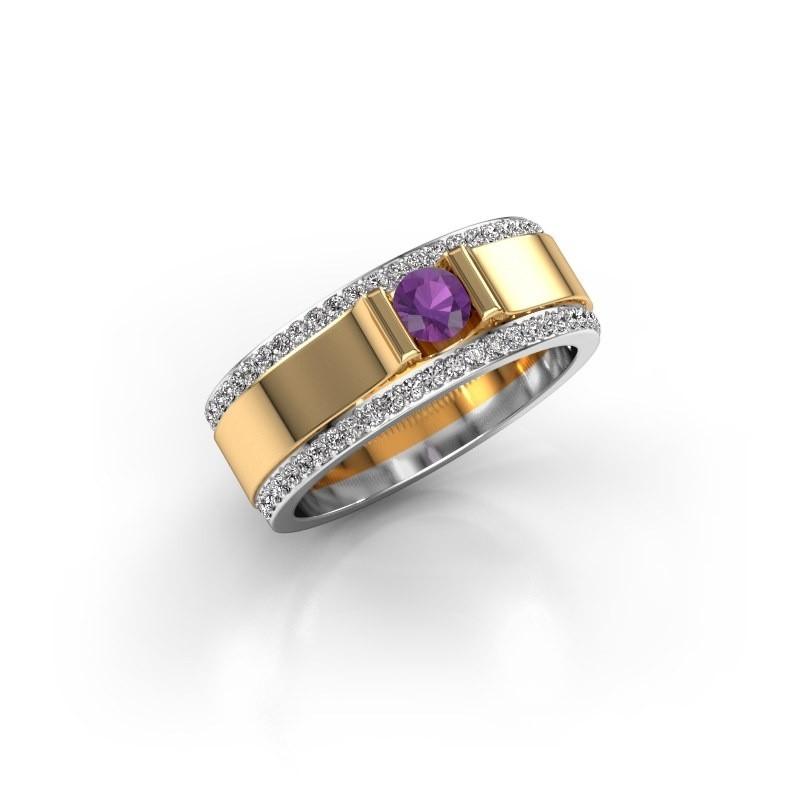Men's ring Danillo 585 gold amethyst 4.2 mm