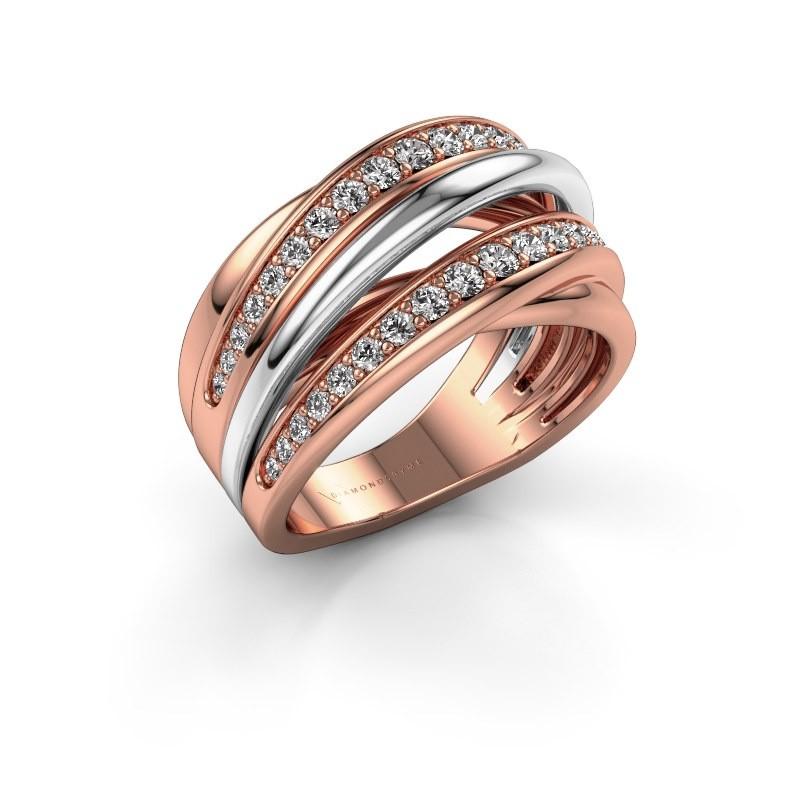 Ring Marylouise 2 585 rose gold diamond 0.618 crt