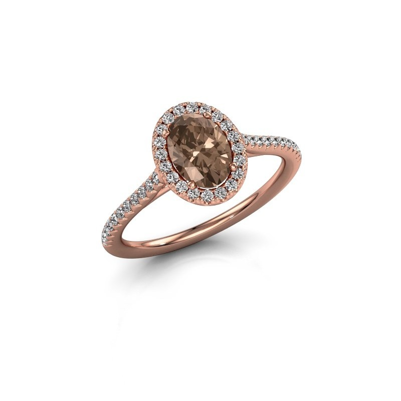 Engagement ring Seline 2 375 rose gold brown diamond 1.081 crt